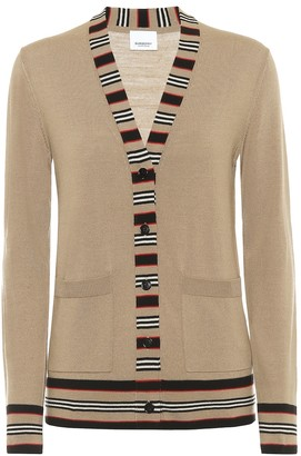 Burberry Icon Stripe merino-wool cardigan