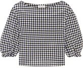 Sonia Rykiel Checked Wool-crepe Top - FR42