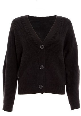 Dorothy Perkins Womens *Quiz Black Knitted Crop Cardigan, Black