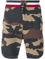 Moncler camouflage print swim shorts