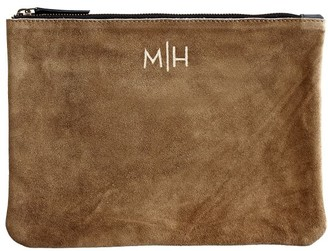 Mark And Graham Suede Boho Zip Pouch