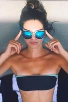 Quay Eyeware My Girl Sunglasses in Black/Blue Real Revo