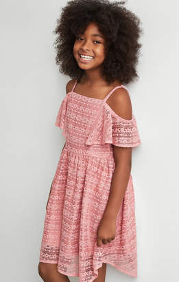BCBGMAXAZRIA Lace handkerchief Dress