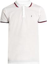 Saint Laurent Logo-embroidered cotton-piqué polo shirt