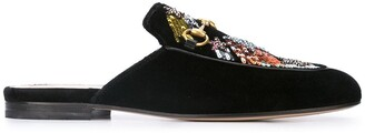 Gucci Princetown embroidered mules