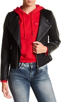 G Star Empral Faux Leather Moto Jacket