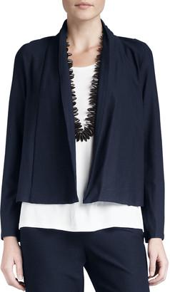 Eileen Fisher Plus Size Washable-Stretch Crepe Short Jacket