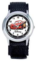 Disney Children's 30mm Cars Time Teacher Watch in Stainless Steel with Black Strap