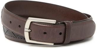Trafalgar Julian Braided Inset Leather Belt