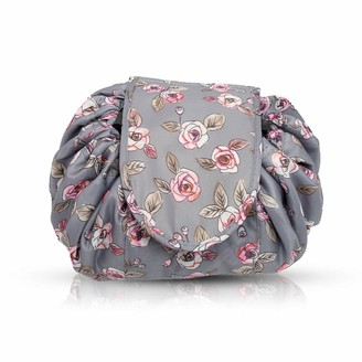 Flo Fashion Cosmetic Drawstring Pouch Rose Grey