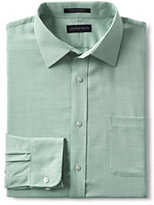 Lands' End Men's Regular Long Sleeve Pattern Perfect Shirt-True Blue Multi Stripe