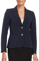 Trina Turk Two-Button Knit Blazer