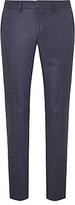 J. Lindeberg Super 140s Wool Comfort Stretch Pindot Slim Suit Trousers, Cornflower