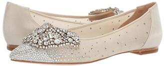 Badgley Mischka Quinn (Ivory Satin/Mesh) Women's Shoes