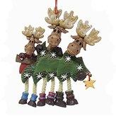 Kurt Adler Resin Family of Three Moose Ornament