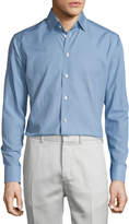 Eton Golf-Club Print Long-Sleeve Sport Shirt, Blue