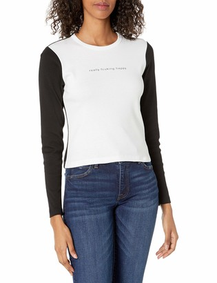 French Connection Women's Long Sleeve Cropped Tee