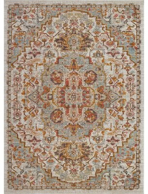 "Bungalow Rose Hagen Oriental Cream/Beige Indoor/Outdoor Area Rug Rug Size: Rectangle 2'7"" x 4'11"""