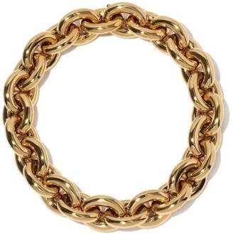 Bottega Veneta Chunky 18kt Gold-plated Sterling-silver Choker - Gold