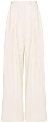 Three Graces Wide-Leg Linen Trousers