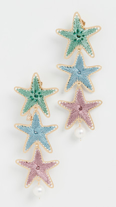 Mercedes Salazar Starfish Linear Drop Earrings