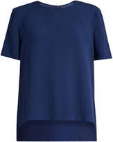 ADAM by Adam Lippes Short-sleeved satin-crepe top