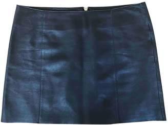 Maje Black Leather Skirts
