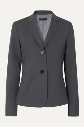 Theory Wool-blend Blazer - Navy