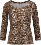 Cosabella Anouck leopard-print stretch-jersey pajama top