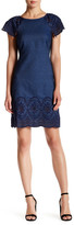 Yoana Baraschi Sally Embroidered Denim Shift Dress