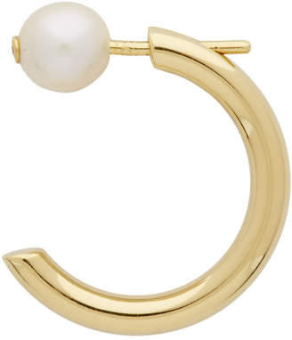 Maria Black Gold Single Elly Pearl Earring