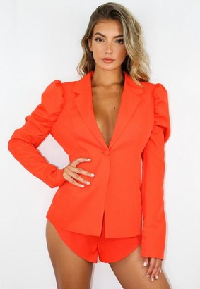 Missguided Co Ord Puff Sleeve Blazer