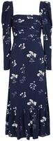 Thumbnail for your product : Self-Portrait Floral taffeta midi dress