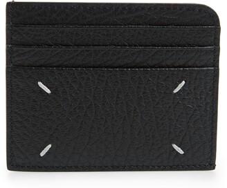 Maison Margiela Logo Printed Leather Card Holder