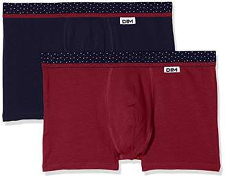 Dim Men's Mix and Dots Boxer X2 Shorts,(Size: 3) (Pack of 2)