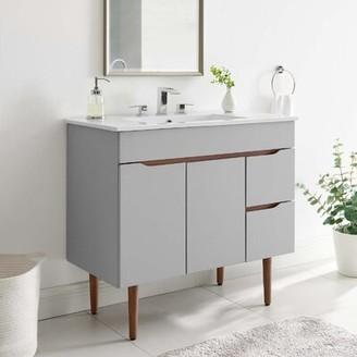 "Modway Harvest 34.5"" Single Bathroom Vanity Set"