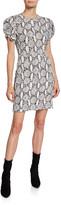 A.L.C. Brinley Dress Snake-Print Short-Sleeve Mini Dress