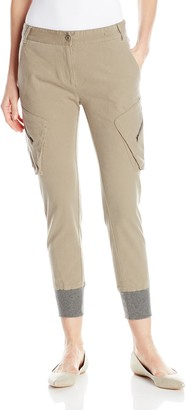 James Jeans Women's Boyfrend Slouch Fit Utility Cargo Pant