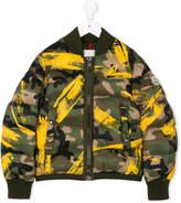 Moncler camouflage padded bomber jacket