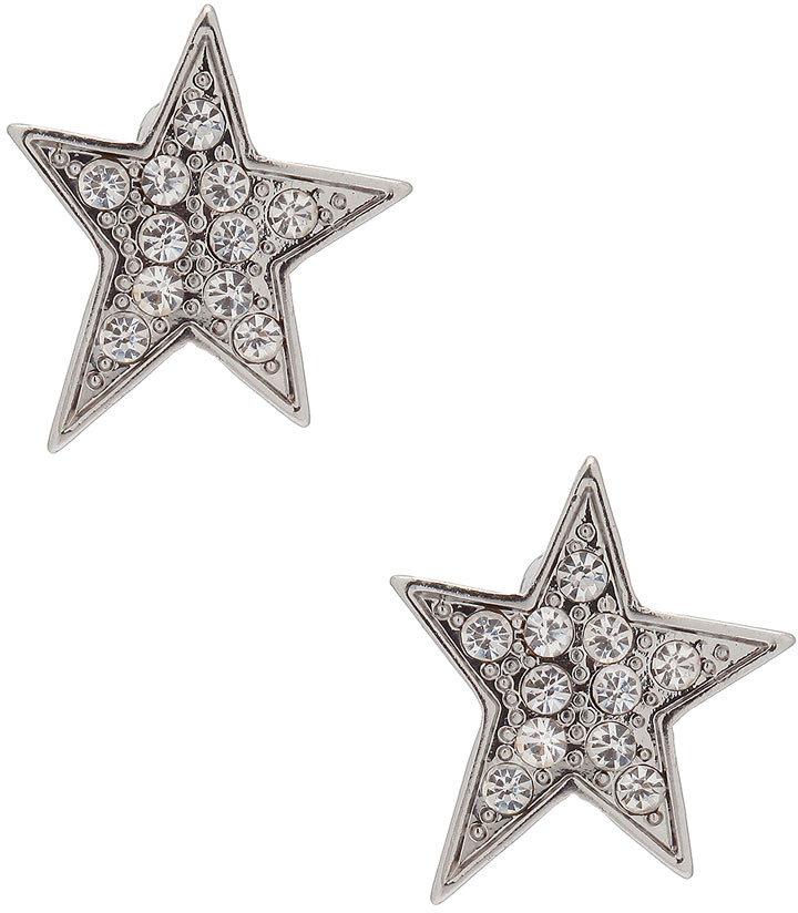 Evans Rhinestone Star Stud Earrings