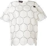 Rochas circles motif scalloped blouse - women - Silk - 40