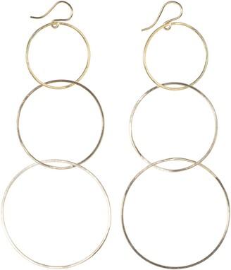 Nashelle Triple Hoop Drop Earrings