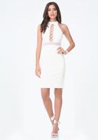 Bebe Crisscross Cutout Dress