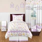 JoJo Designs Sweet Suzanna 4-Piece Twin Comforter Set in Lavender/White