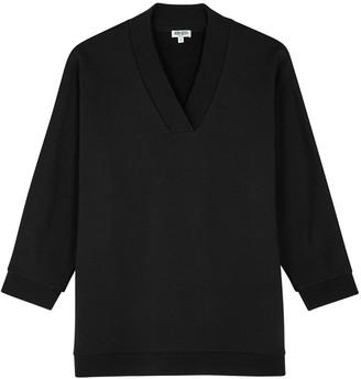 Kenzo Black logo-embellished cotton sweatshirt