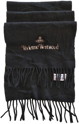 Vivienne Westwood Black Wool Scarves & pocket squares