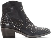 Mjus Dallas Leather Studded Ankle Boots