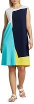Thumbnail for your product : Joan Vass, Plus Size Colorblock Shift Dress