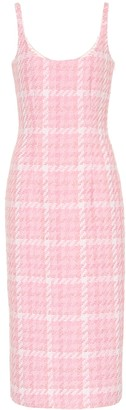 Alessandra Rich Checked tweed midi dress