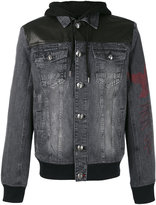 Philipp Plein denim jacket - men - Cotton/Leather - M